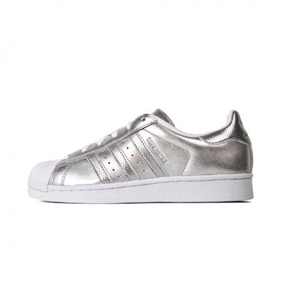 Adidas Superstar 贝壳头银色 女